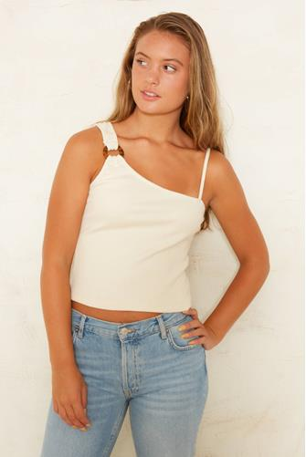 The Asym Ring Tank Top IVORY