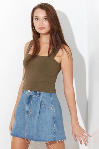 Calista Crop Top OLIVE