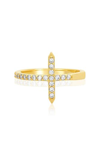 Cross Wrap Ring GOLD