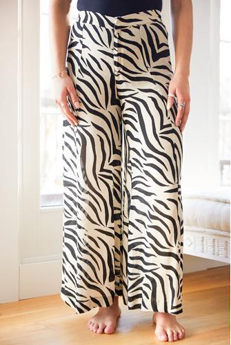 Zebra Lightweight Wide Leg Pant BLACK MULTI -