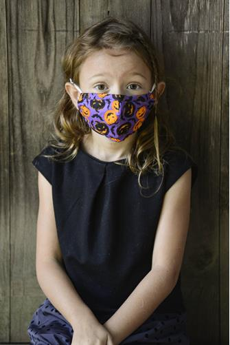 Kids Halloween Face Mask PURPLE MULTI -