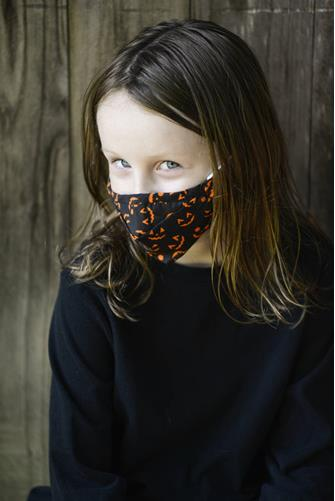 Kids Jack O'Lantern Face Mask BLACK MULTI -
