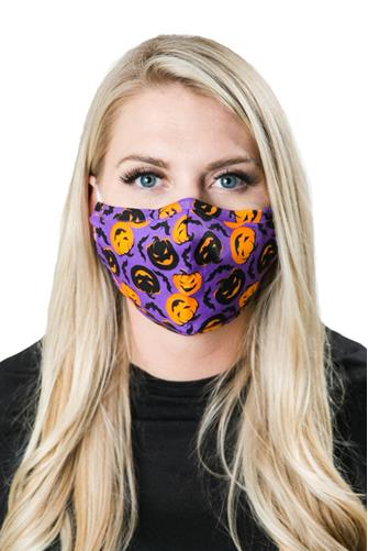 Adult Halloween Face Mask PURPLE MULTI -
