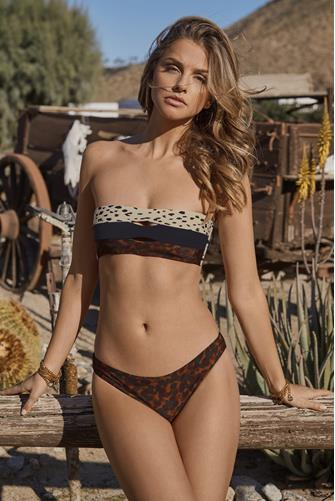 Wild Heart Tube Bandeau Bikini Top MULTI