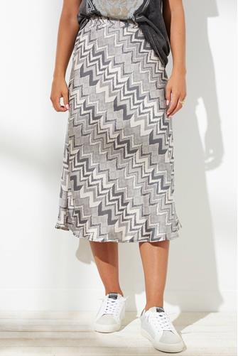 Aisha Chevron Midi Skirt GREY MULTI -