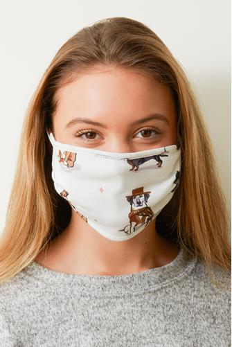 Dog Scarf Face Mask IVORY
