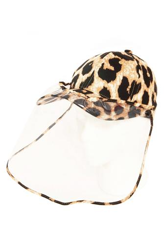 Leopard Hat Face Shield BROWN MULTI -