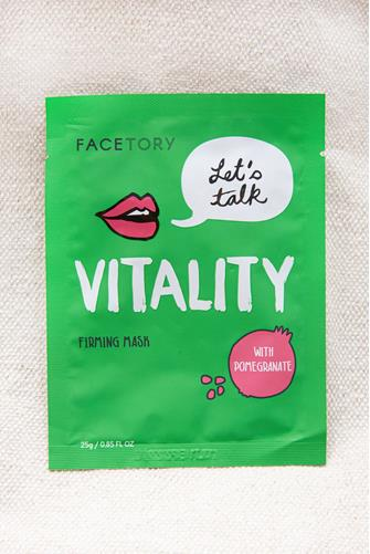 Let's Talk Vitality Face Mask GREEN