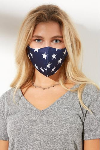 Star Face Mask BLUE