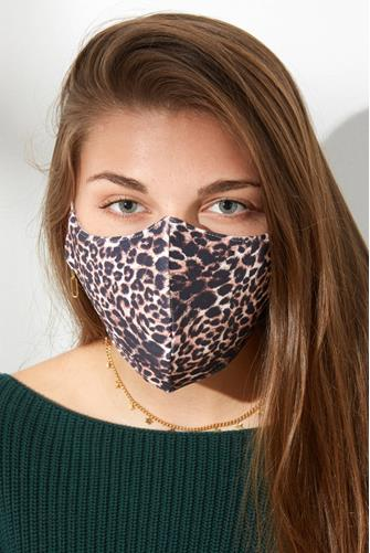 Leopard Face Mask BROWN MULTI -