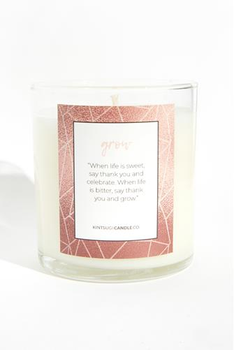 Grow Quote Candle 9.5 oz. CLEAR