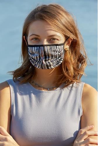 Multi Stripe Print Face Mask MULTI