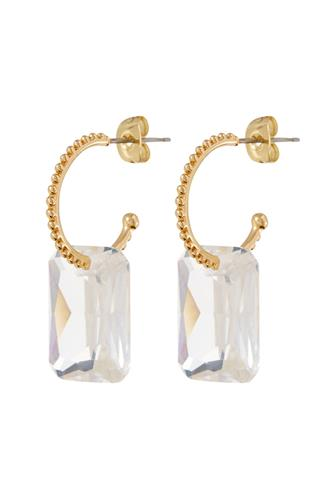 Crystalline Hoop Earrings GOLD