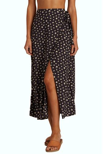 Ocean Air Midi Skirt BLACK MULTI -