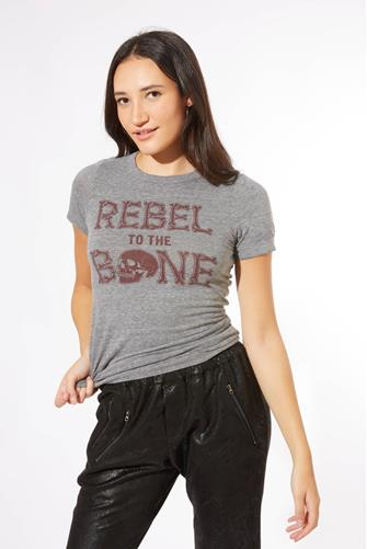 Rebel To The Bone Graphic Tee GREY