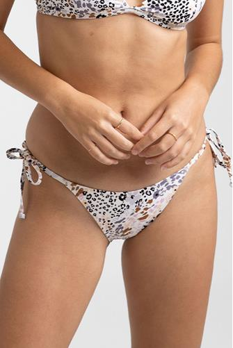 Mombasa Tie Side Hi Cut Bikini Bottom WHITE MULTI -