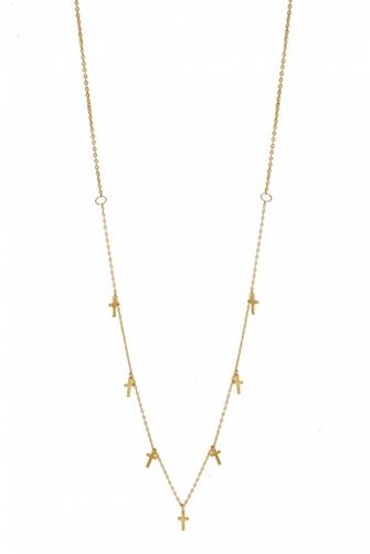Cross My Heart Necklace GOLD