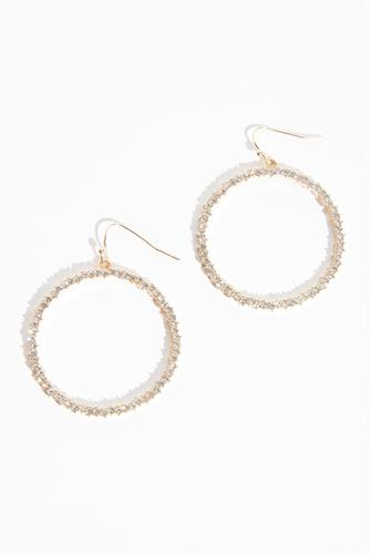 Front Facing Open Circle Drop Earrings GOLD