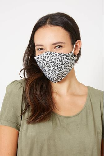 Cheetah Happy Hour Straw Face Mask BROWN MULTI -