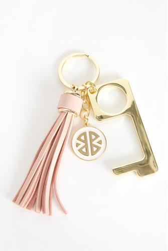 Light Pink Don't Touch That! Keychain LITE PINK
