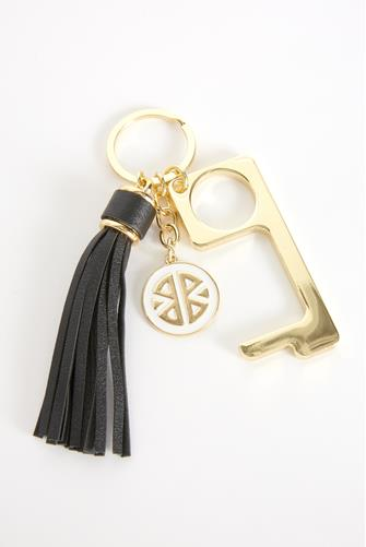 Black Don't Touch That! Keychain BLACK