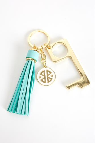 Teal Don't Touch That! Keychain TEAL