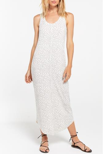 Luna Rib Hacci Maxi Dress WHITE MULTI -