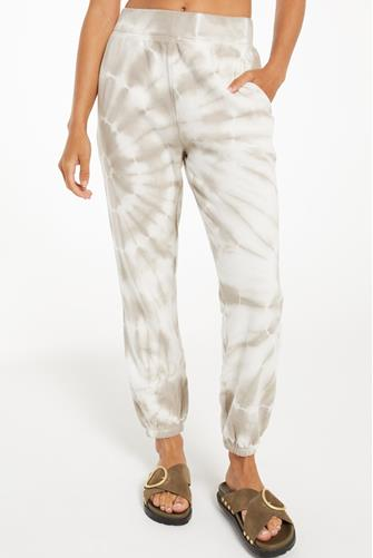 Taupe Emery Spiral Tie Dye Jogger MULTI