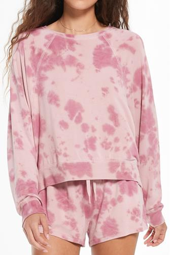 Sleep Over Tie Dye Top PINK MULTI -
