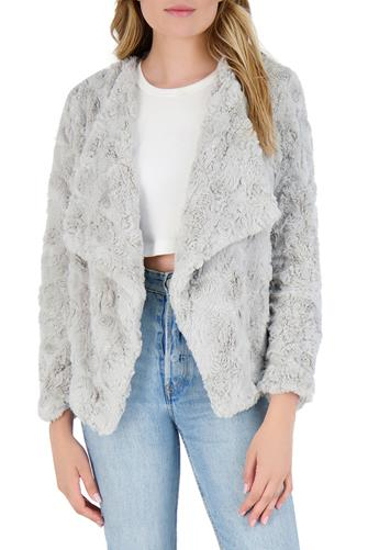 Come Cozy Faux Fur Jacket GREY