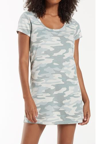 Payton Green Camo Tee Dress CAMO