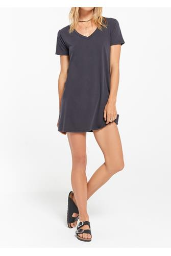 Black Organic Cotton T-Shirt Dress BLACK