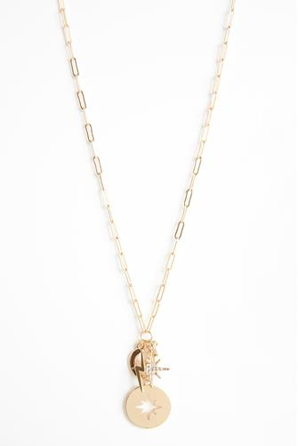 Gold Chain & Celestial Charm Necklace GOLD