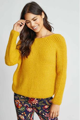 Swing My Way Ruched Sweater YELLOW