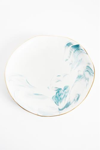 "Marble Decorative 8"" Plate BLUE"