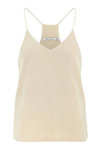 Micro Stud Faux Suede Cami IVORY