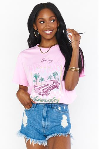 West Coast Travis Graphic Tee PINK