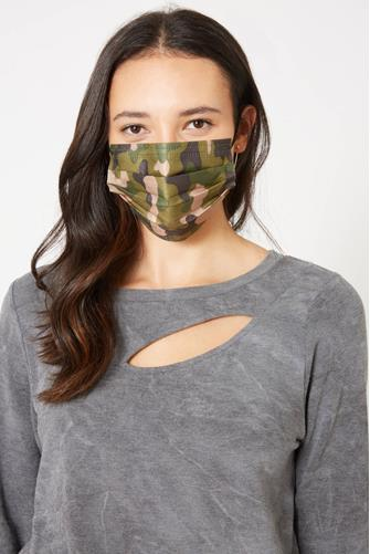 Camo Disposable Face Mask Five Pack CAMO