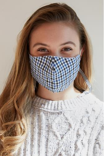 Plaid Face Mask & Fabric Holder PLAID