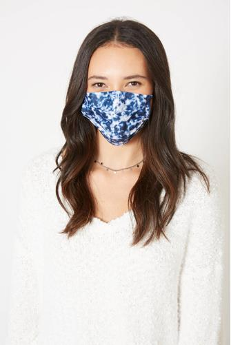Tie Dye Disposable Face Mask Five Pack BLUE MULTI -