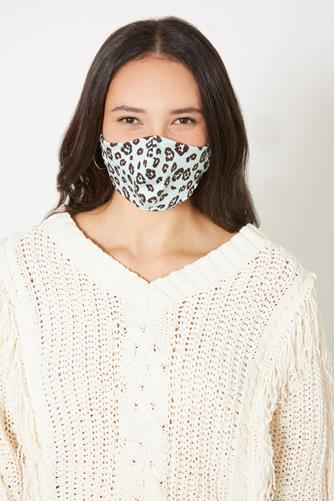 Cheetah Print Face Mask MINT GREEN