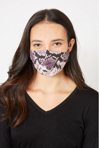 Snake Print Face Mask MULTI