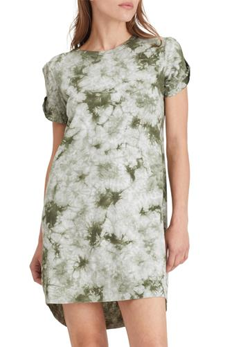 Tie Dye So Twisted T-Shirt Dress GREEN MULTI -
