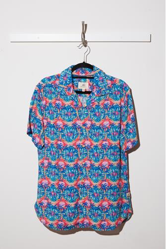 Billy Coral Palm Camp Shirt MULTI
