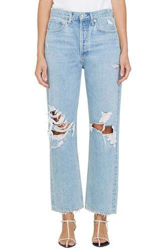 90's Mid Rise Loose Fit Jean in Fall Out LIGHT DENIM -