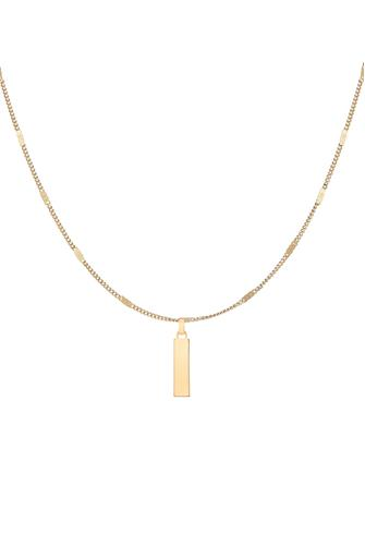 L Modernist Monogram Pendant Necklace GOLD