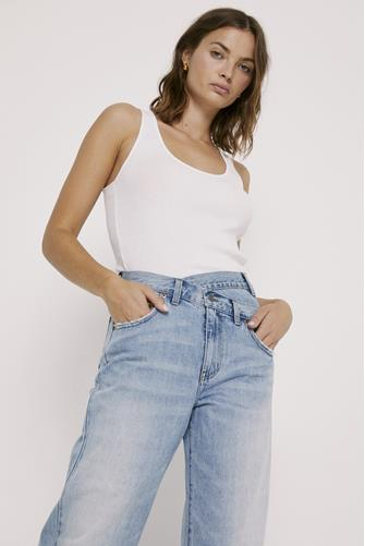 Bobbie Hi Rise Wide Leg Jean in Nelson LIGHT DENIM -