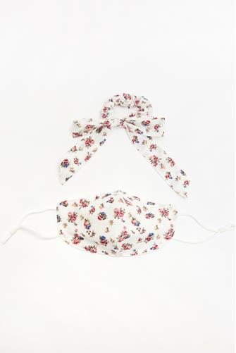 Mask & Bow Floral Pack IVORY