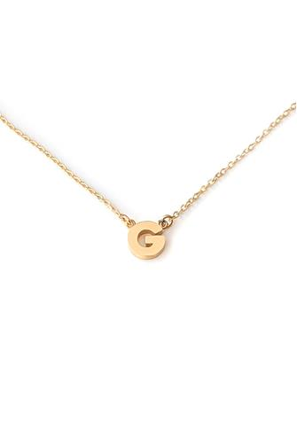 G Initial Necklace GOLD