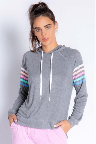 Colorful Classics Stripe Hoodie CHARCOAL